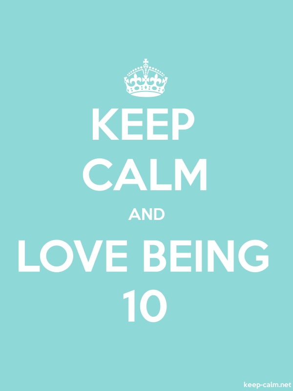 KEEP CALM AND LOVE BEING 10 - white/lightblue - Default (600x800)