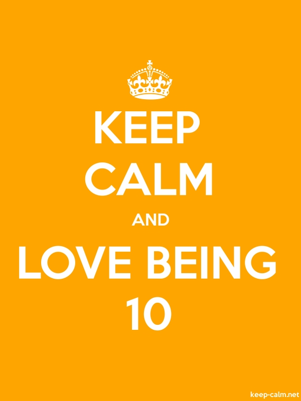 KEEP CALM AND LOVE BEING 10 - white/orange - Default (600x800)