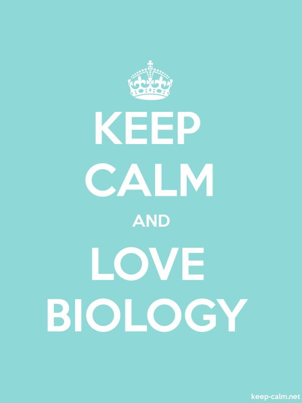 KEEP CALM AND LOVE BIOLOGY - white/lightblue - Default (600x800)