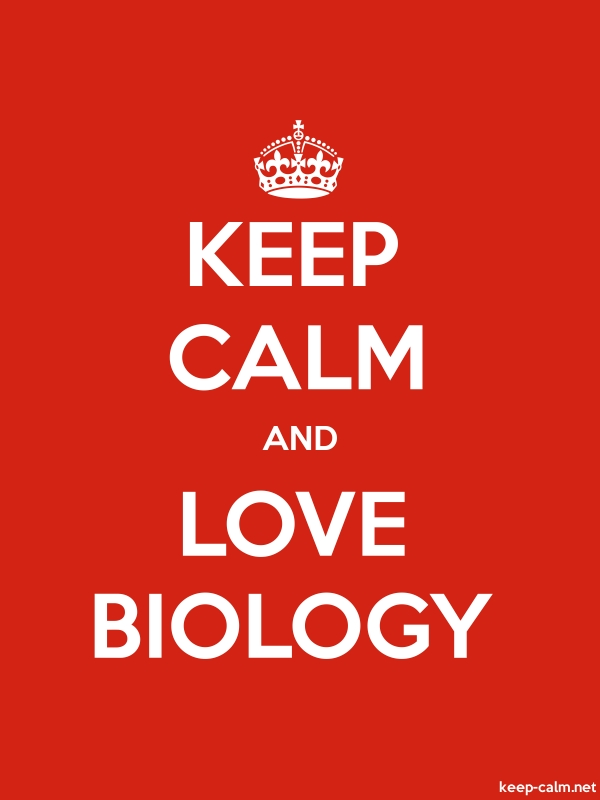KEEP CALM AND LOVE BIOLOGY - white/red - Default (600x800)