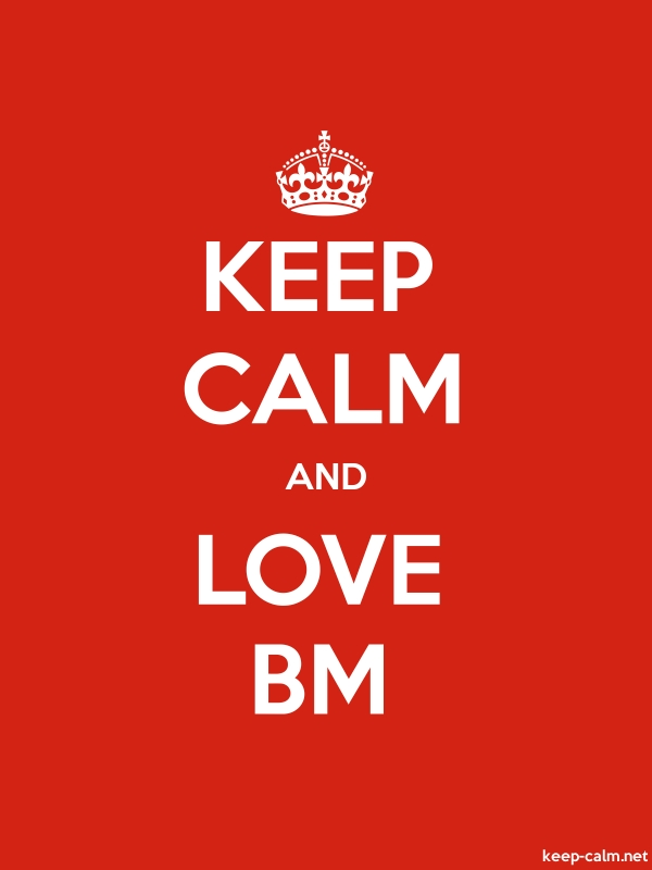 KEEP CALM AND LOVE BM - white/red - Default (600x800)