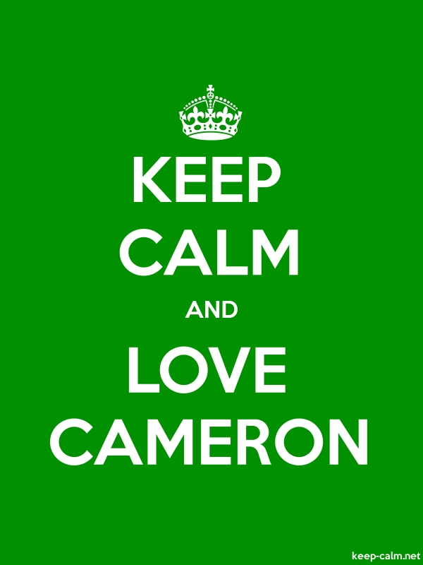 KEEP CALM AND LOVE CAMERON - white/green - Default (600x800)