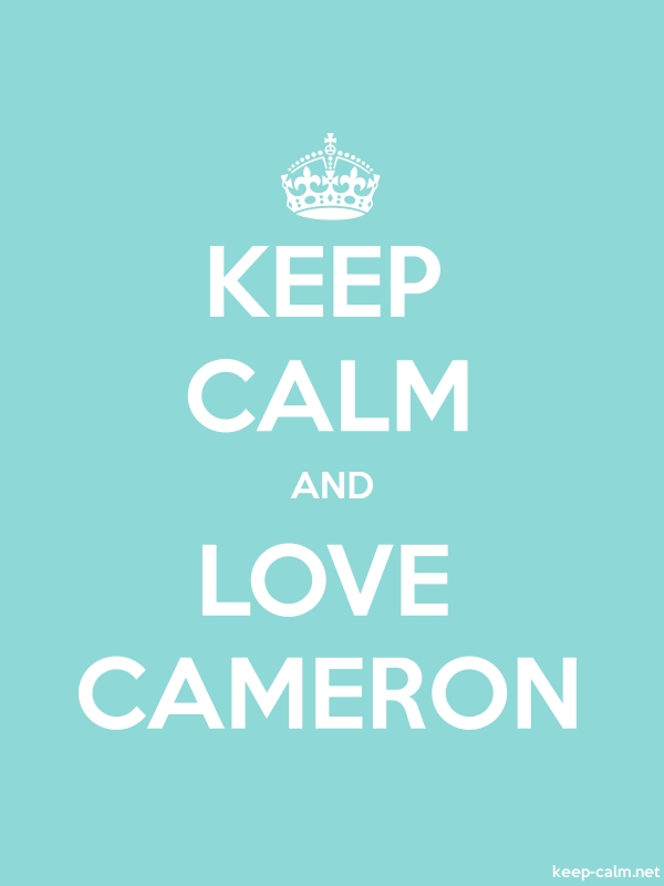 KEEP CALM AND LOVE CAMERON - white/lightblue - Default (600x800)