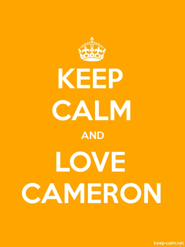 KEEP CALM AND LOVE CAMERON - white/orange - Default (600x800)