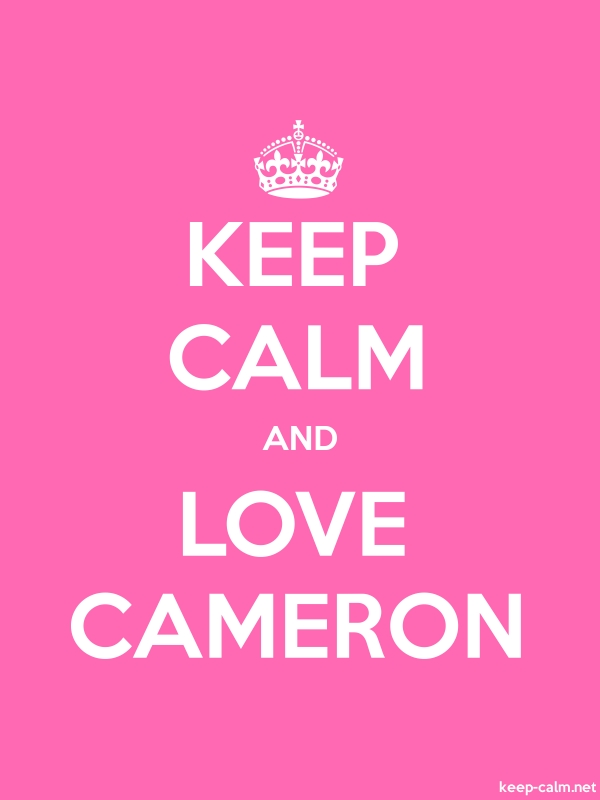 KEEP CALM AND LOVE CAMERON - white/pink - Default (600x800)