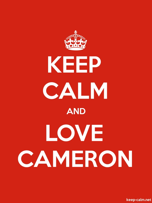 KEEP CALM AND LOVE CAMERON - white/red - Default (600x800)