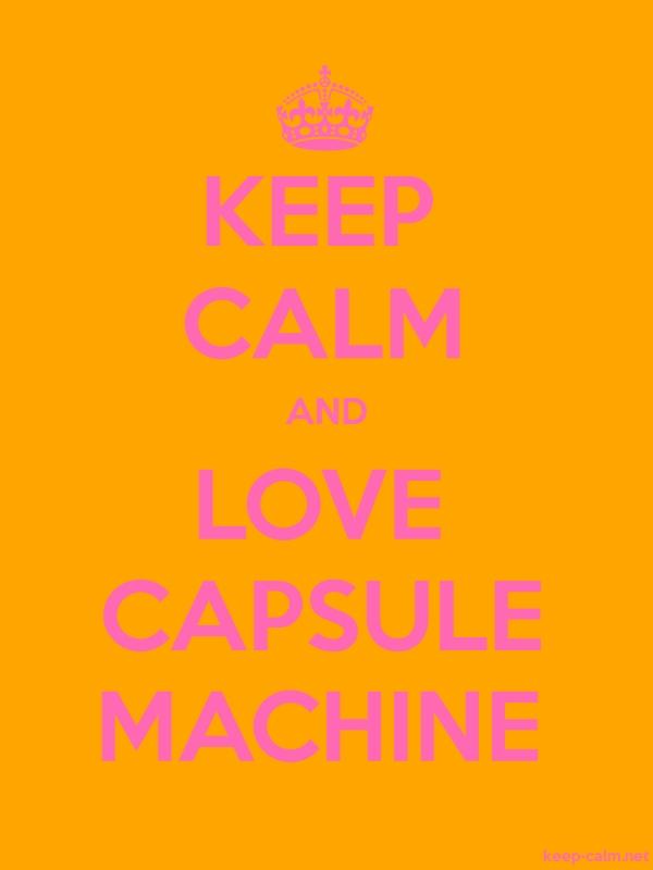 KEEP CALM AND LOVE CAPSULE MACHINE - pink/orange - Default (600x800)