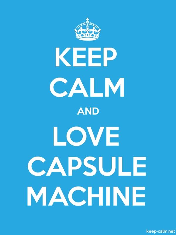 KEEP CALM AND LOVE CAPSULE MACHINE - white/blue - Default (600x800)