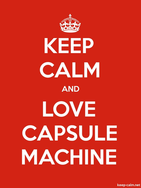KEEP CALM AND LOVE CAPSULE MACHINE - white/red - Default (600x800)