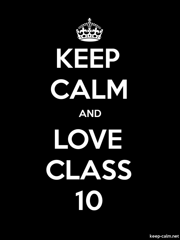 KEEP CALM AND LOVE CLASS 10 - white/black - Default (600x800)