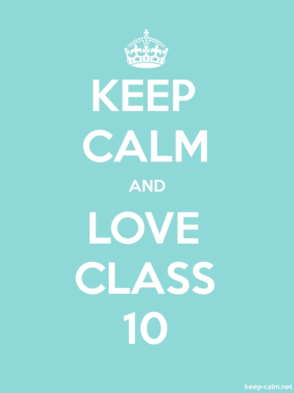 KEEP CALM AND LOVE CLASS 10 - white/lightblue - Default (600x800)