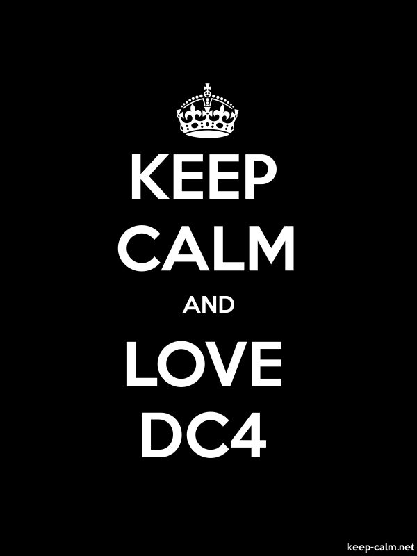 KEEP CALM AND LOVE DC4 - white/black - Default (600x800)