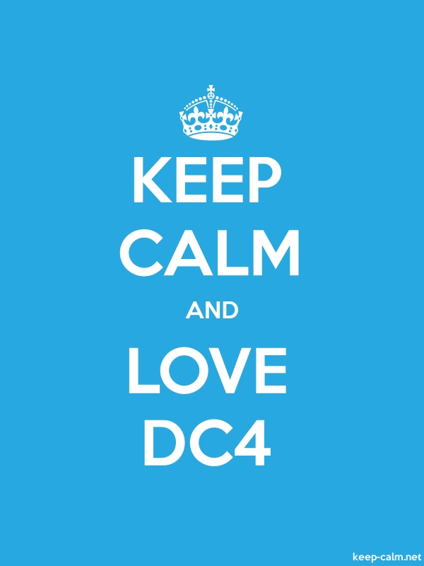 KEEP CALM AND LOVE DC4 - white/blue - Default (600x800)