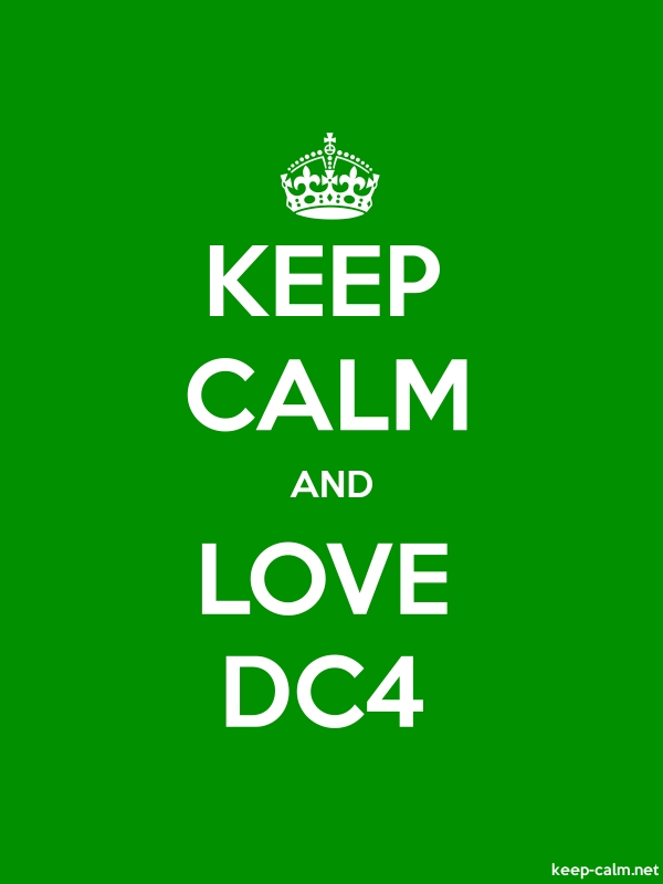 KEEP CALM AND LOVE DC4 - white/green - Default (600x800)