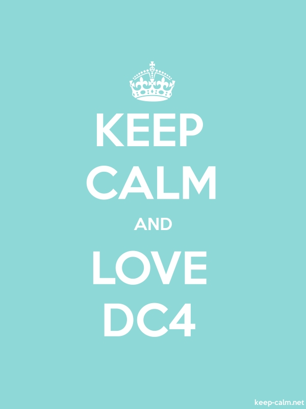 KEEP CALM AND LOVE DC4 - white/lightblue - Default (600x800)