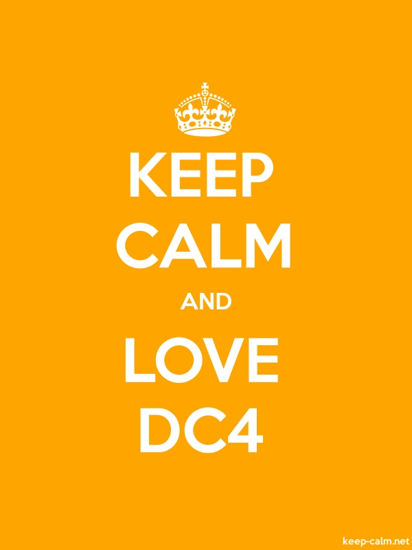 KEEP CALM AND LOVE DC4 - white/orange - Default (600x800)