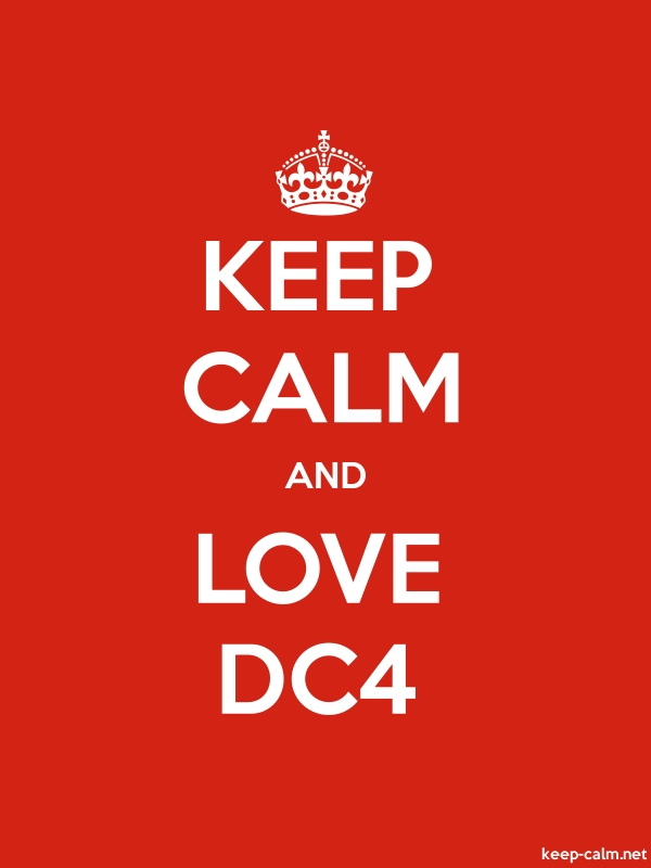 KEEP CALM AND LOVE DC4 - white/red - Default (600x800)