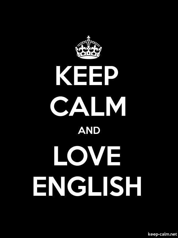 KEEP CALM AND LOVE ENGLISH - white/black - Default (600x800)