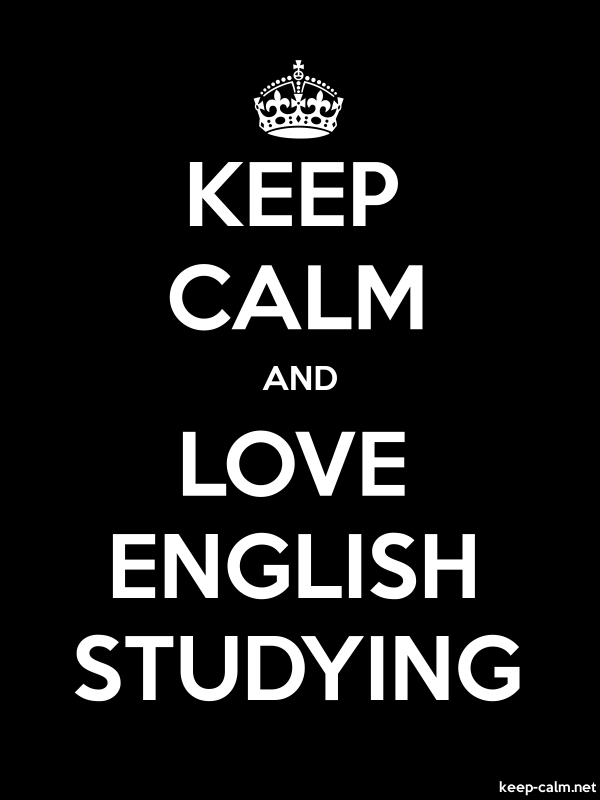 KEEP CALM AND LOVE ENGLISH STUDYING - white/black - Default (600x800)