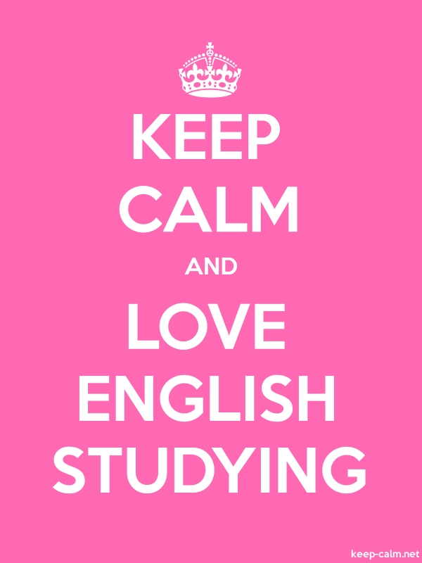 KEEP CALM AND LOVE ENGLISH STUDYING - white/pink - Default (600x800)