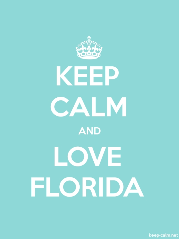 KEEP CALM AND LOVE FLORIDA - white/lightblue - Default (600x800)