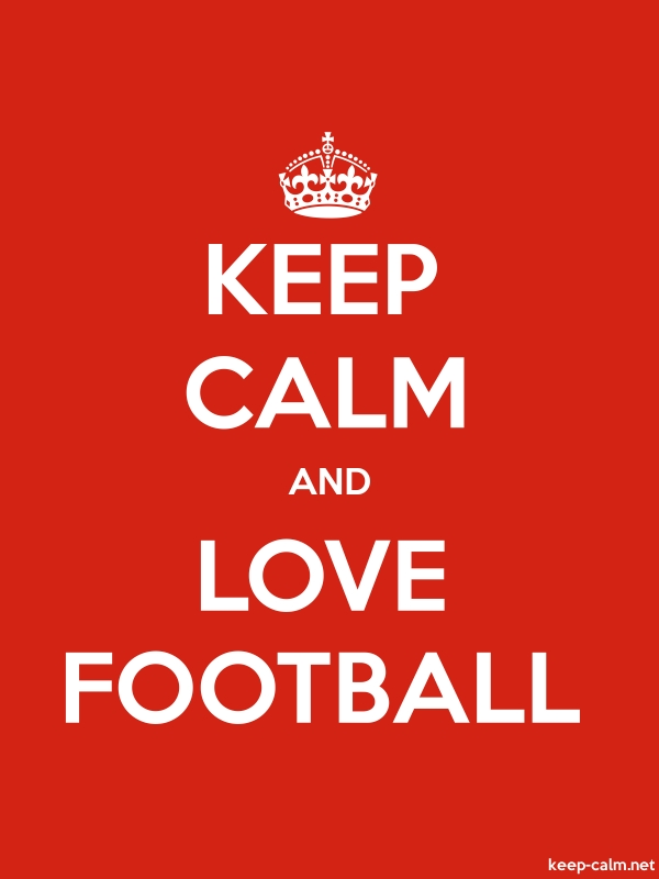 KEEP CALM AND LOVE FOOTBALL - white/red - Default (600x800)