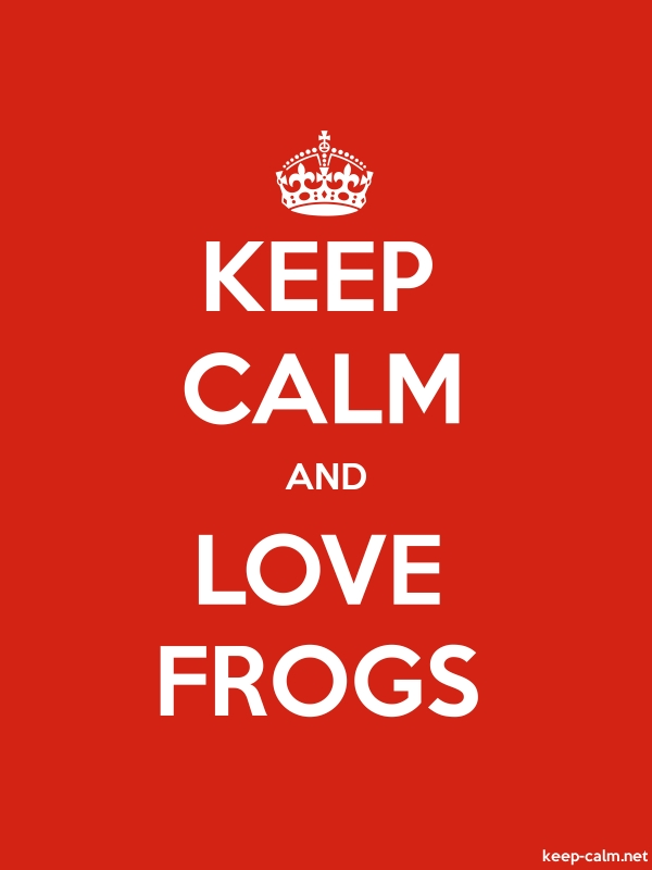 KEEP CALM AND LOVE FROGS - white/red - Default (600x800)