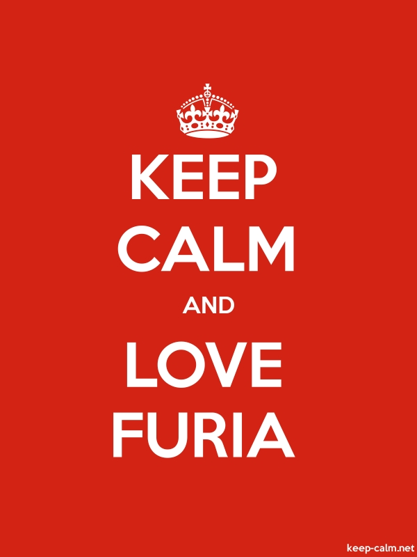 KEEP CALM AND LOVE FURIA - white/red - Default (600x800)