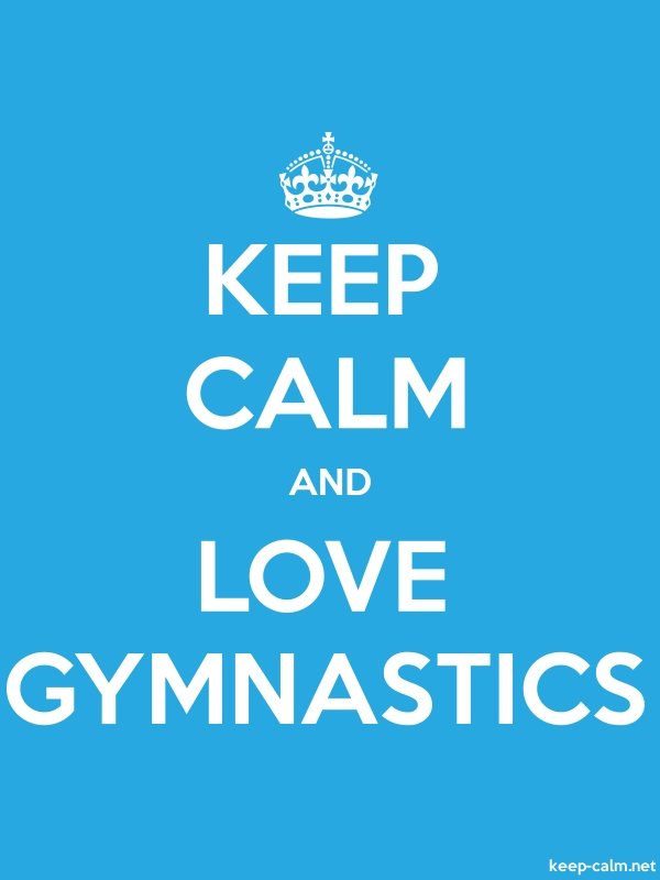 KEEP CALM AND LOVE GYMNASTICS - white/blue - Default (600x800)