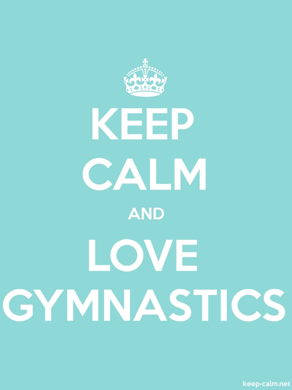 KEEP CALM AND LOVE GYMNASTICS - white/lightblue - Default (600x800)