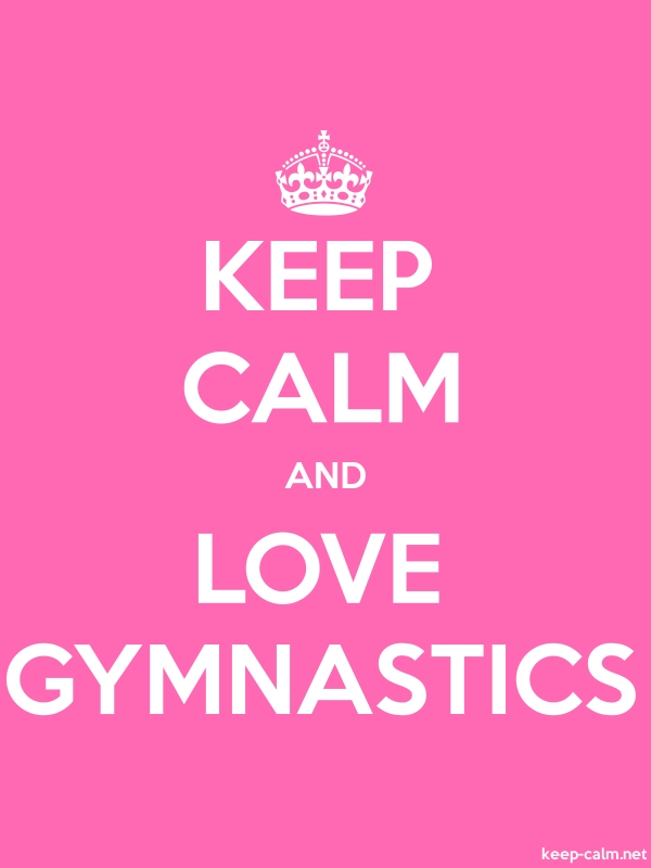 KEEP CALM AND LOVE GYMNASTICS - white/pink - Default (600x800)