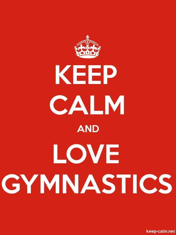 KEEP CALM AND LOVE GYMNASTICS - white/red - Default (600x800)