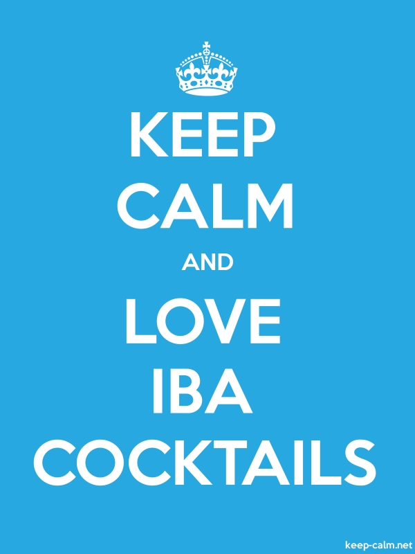 KEEP CALM AND LOVE IBA COCKTAILS - white/blue - Default (600x800)