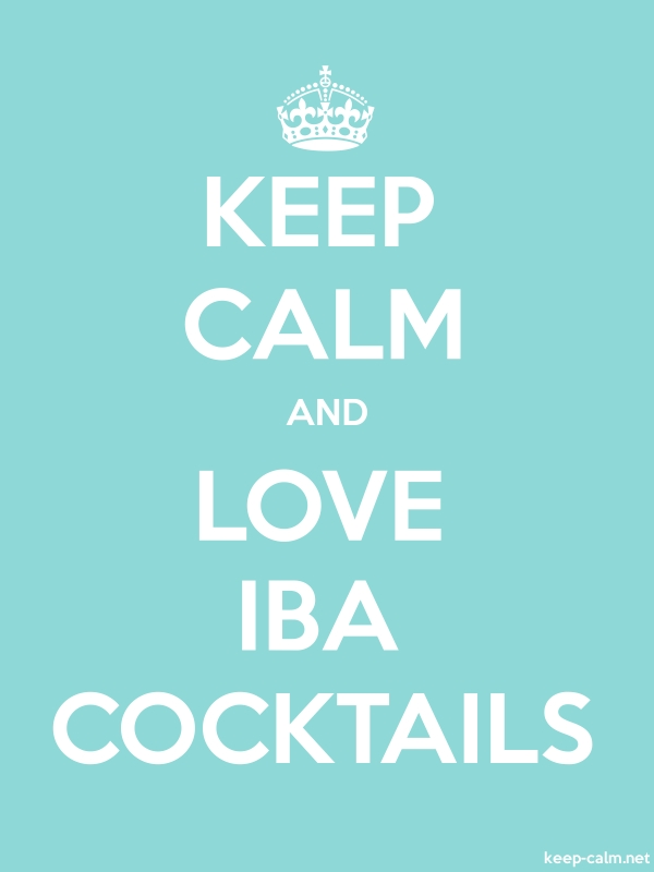 KEEP CALM AND LOVE IBA COCKTAILS - white/lightblue - Default (600x800)