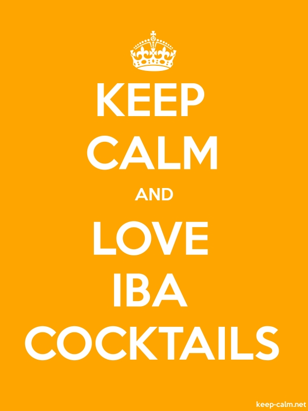 KEEP CALM AND LOVE IBA COCKTAILS - white/orange - Default (600x800)