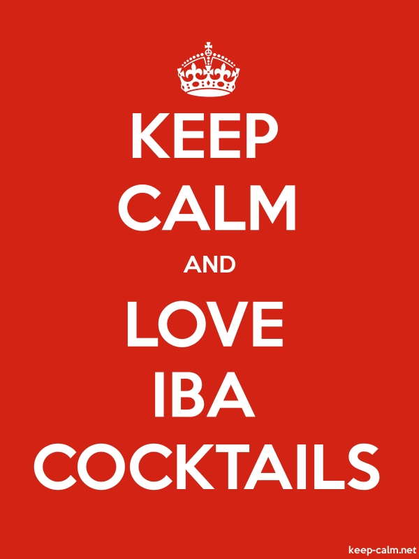 KEEP CALM AND LOVE IBA COCKTAILS - white/red - Default (600x800)