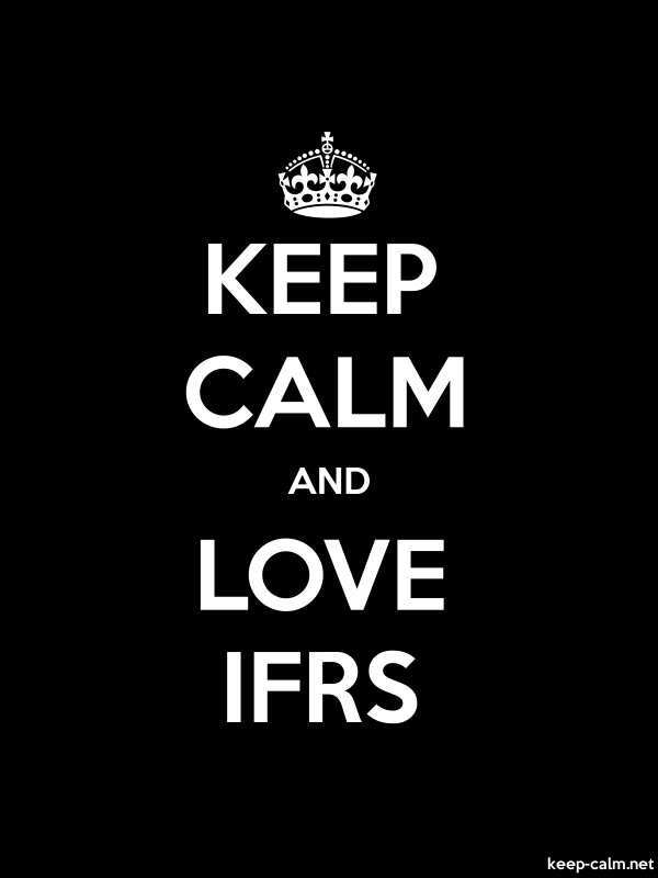 KEEP CALM AND LOVE IFRS - white/black - Default (600x800)