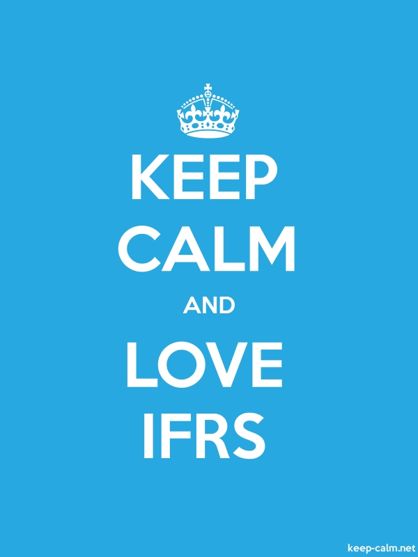 KEEP CALM AND LOVE IFRS - white/blue - Default (600x800)