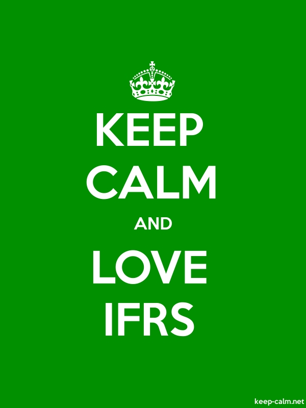KEEP CALM AND LOVE IFRS - white/green - Default (600x800)