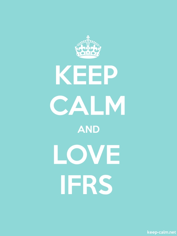 KEEP CALM AND LOVE IFRS - white/lightblue - Default (600x800)