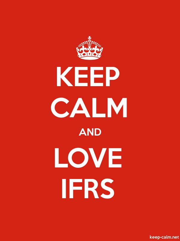 KEEP CALM AND LOVE IFRS - white/red - Default (600x800)