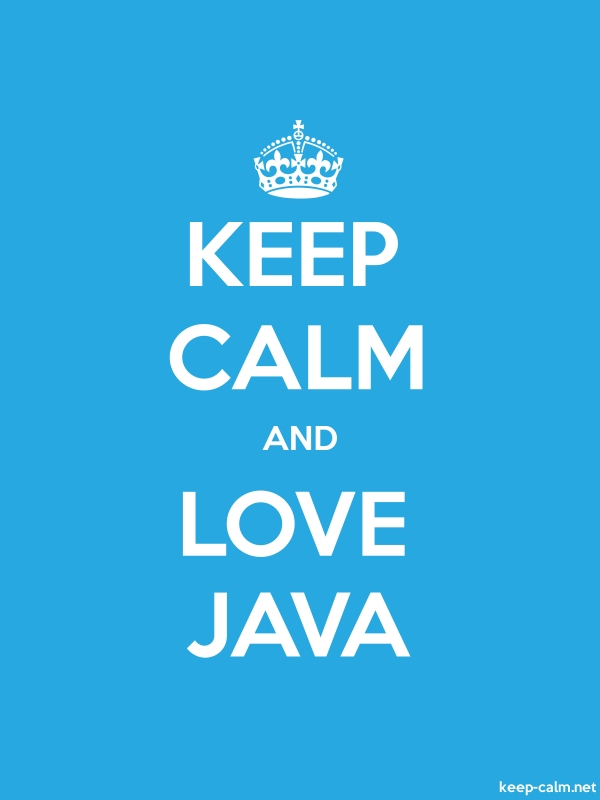 KEEP CALM AND LOVE JAVA - white/blue - Default (600x800)