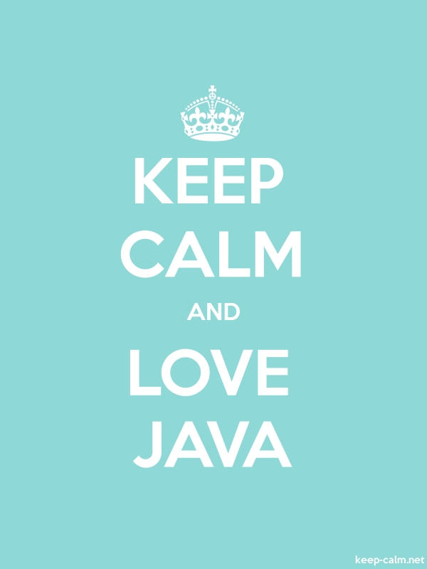 KEEP CALM AND LOVE JAVA - white/lightblue - Default (600x800)