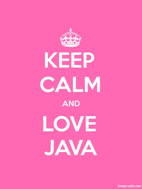 KEEP CALM AND LOVE JAVA - white/pink - Default (600x800)