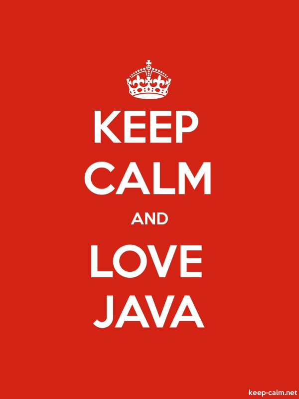 KEEP CALM AND LOVE JAVA - white/red - Default (600x800)