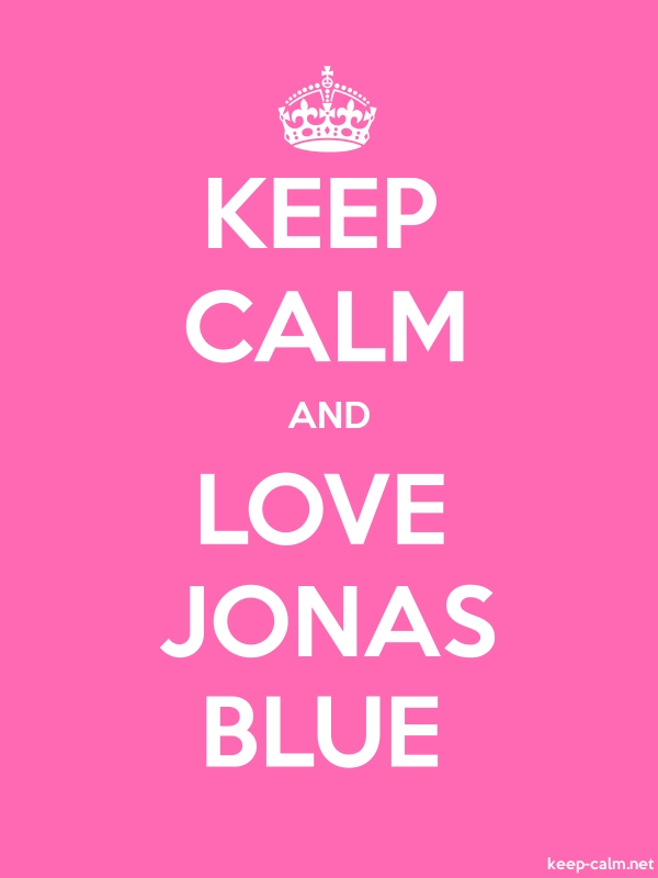KEEP CALM AND LOVE JONAS BLUE - white/pink - Default (600x800)