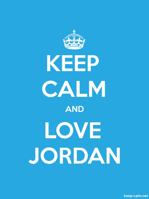 KEEP CALM AND LOVE JORDAN - white/blue - Default (600x800)