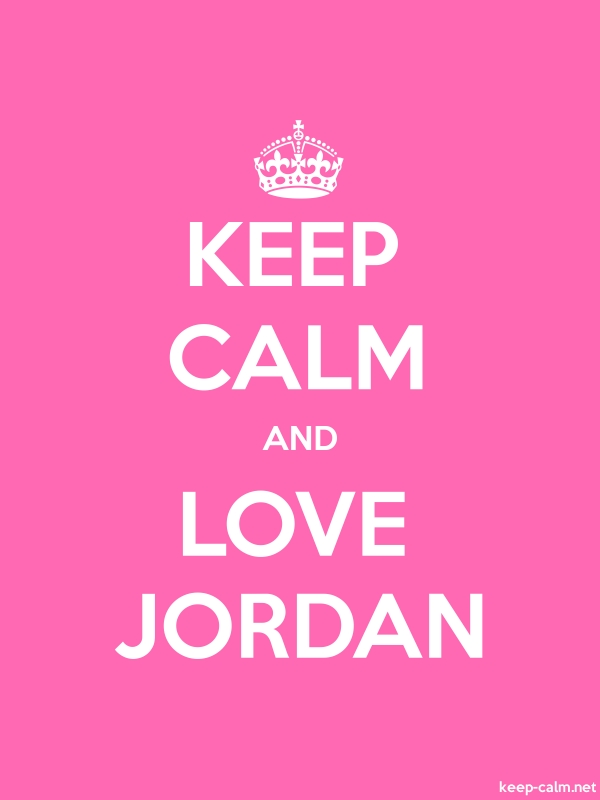 KEEP CALM AND LOVE JORDAN - white/pink - Default (600x800)
