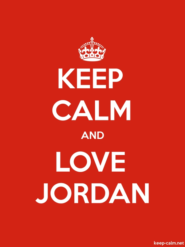 KEEP CALM AND LOVE JORDAN - white/red - Default (600x800)