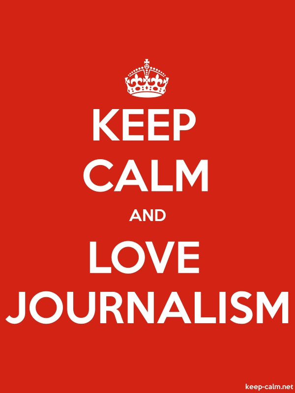 KEEP CALM AND LOVE JOURNALISM - white/red - Default (600x800)